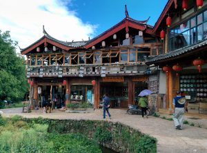 The typical architecture of shops in Shuhe Ancient Town