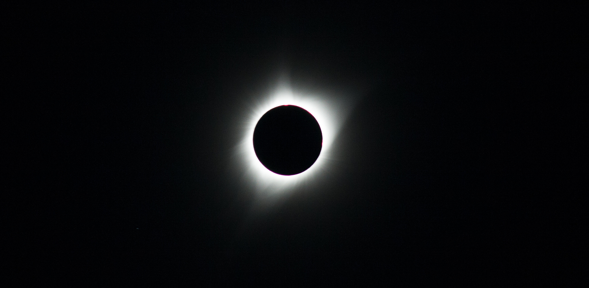 The total solar eclipse, as seen from Salem, Oregon.